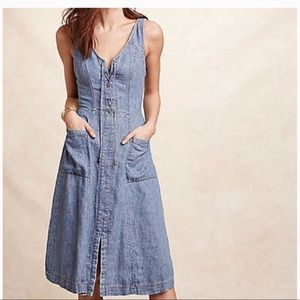 Anthropologie holding horses atoll chambray dress